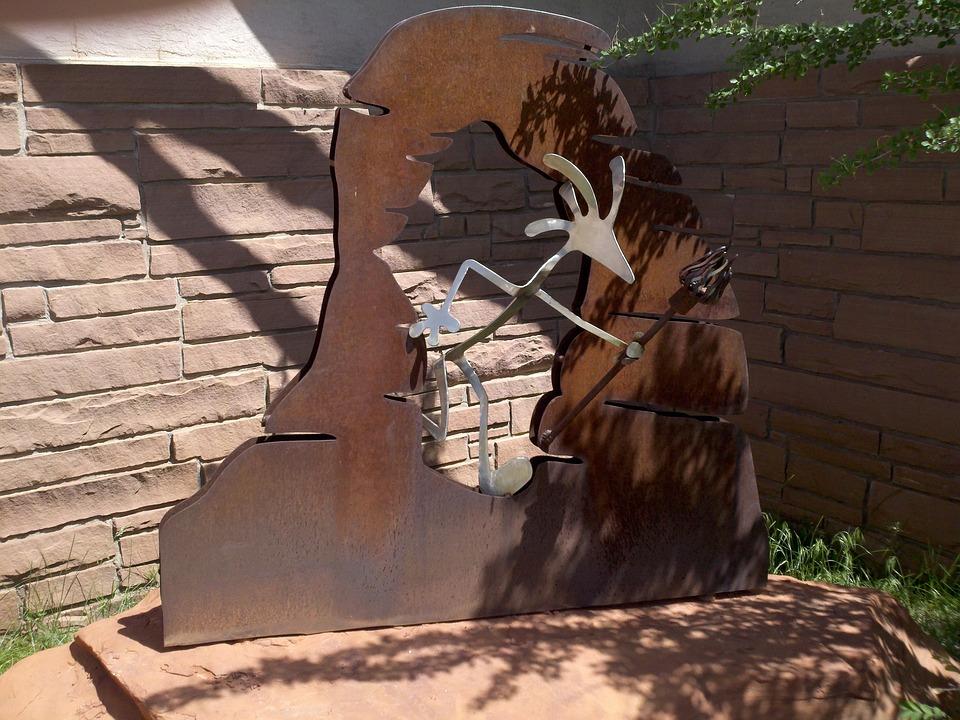Kokapelli, Utah, Moab, Statue, Metal, Tourism