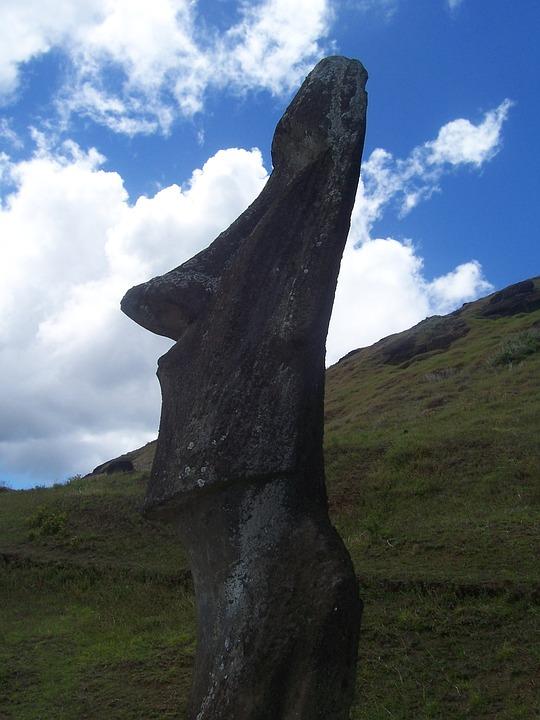 Rapa Nui, Moai, Easter Island, Chile, Travel, Sky