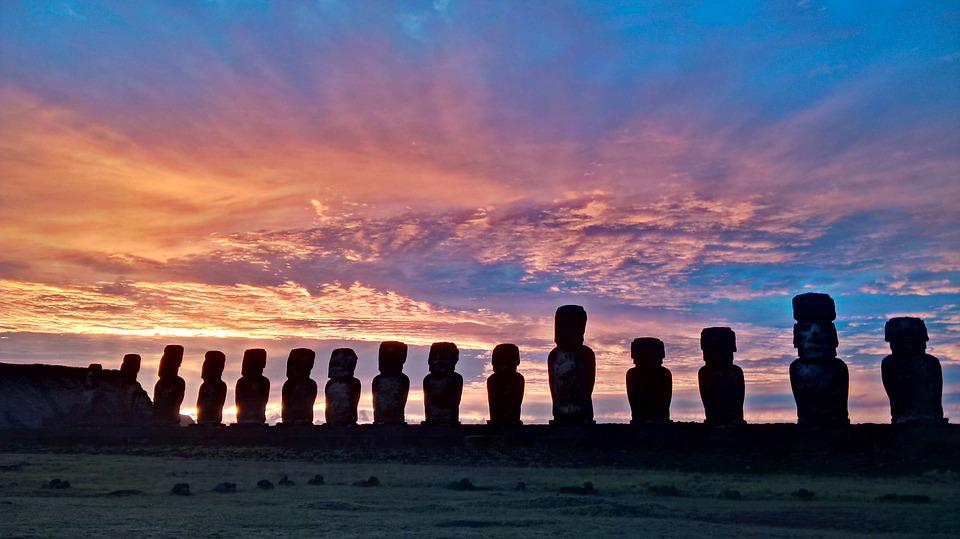 Moai, Sunrise, Easter Island, History, Culture