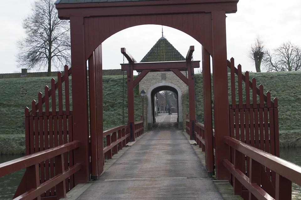 Drawbridge, Bridge, Moat