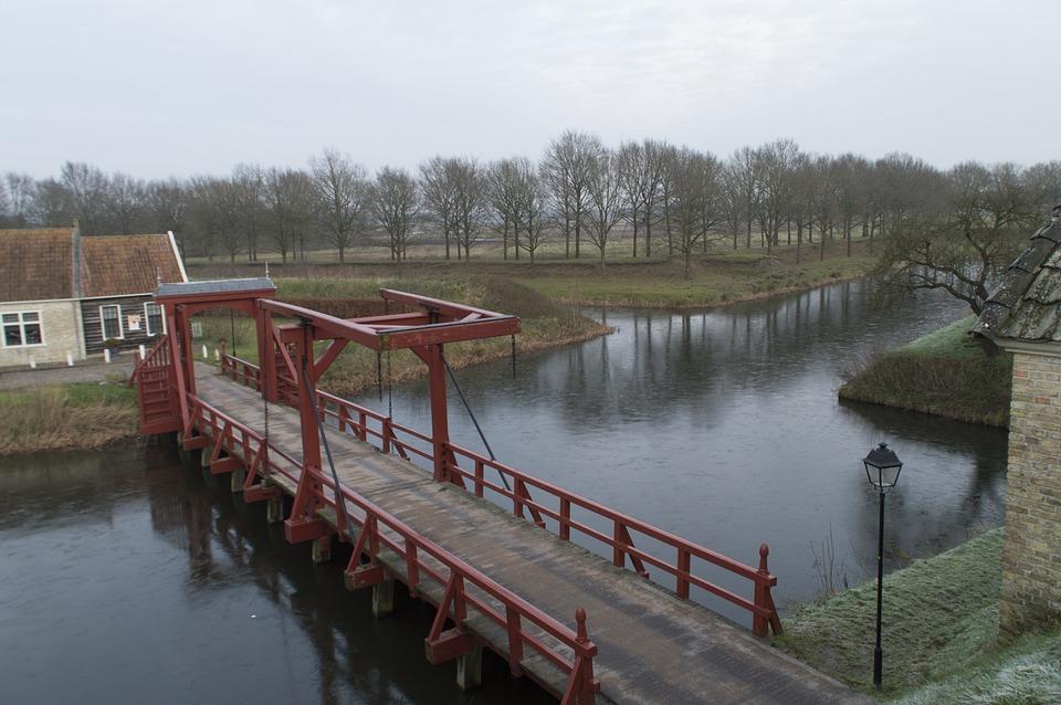 Drawbridge, Bridge, Moat, Fortress