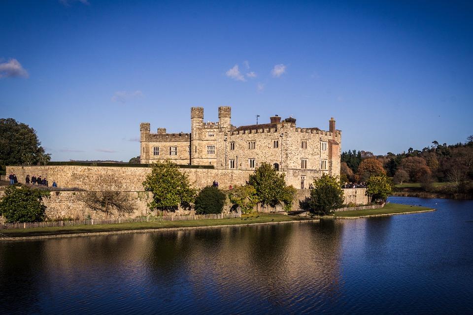 Castle, Summer, Moat, Landscape, Architecture, Building