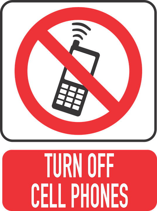Mobile Phone, Turn Off Your Cell Phone, Close, Silent