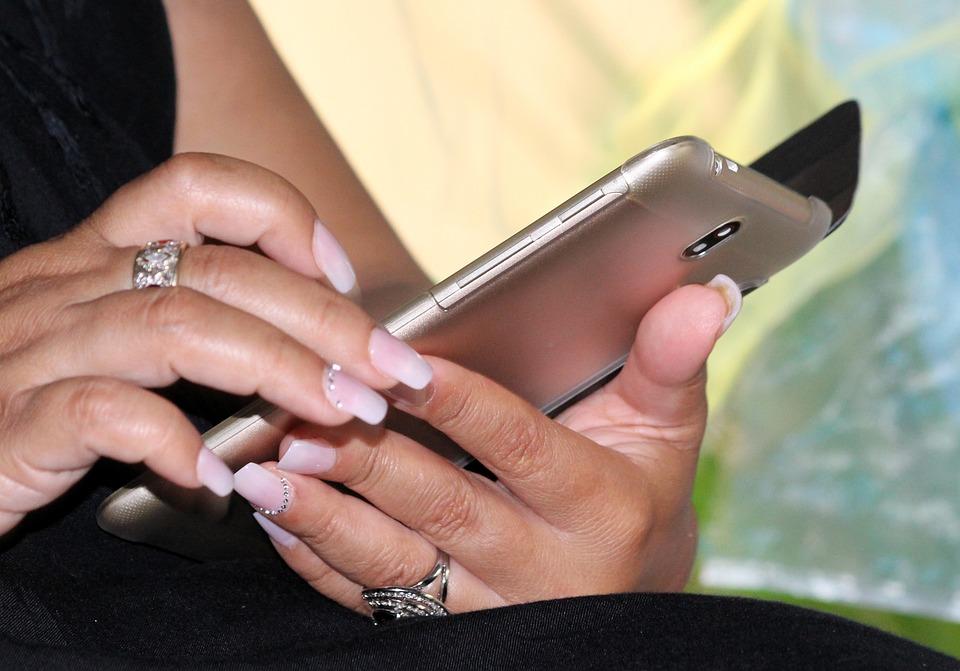 Woman, Mobile Phone, Manicure, Hands, Communication