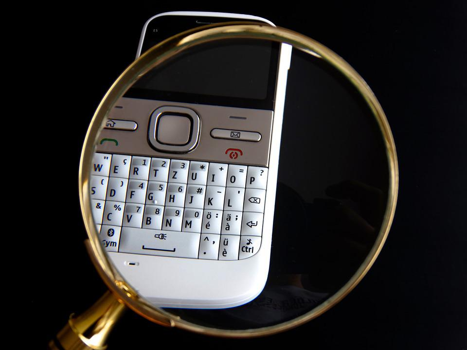 Mobile, Natel, Magnifying Glass, Data Search, Search