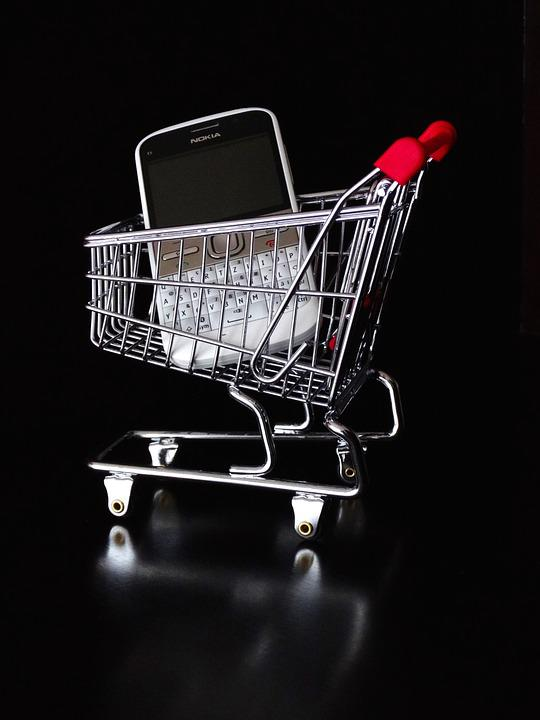 Mobile, Online, Dare, Shopping Cart, Basket, Bassinet