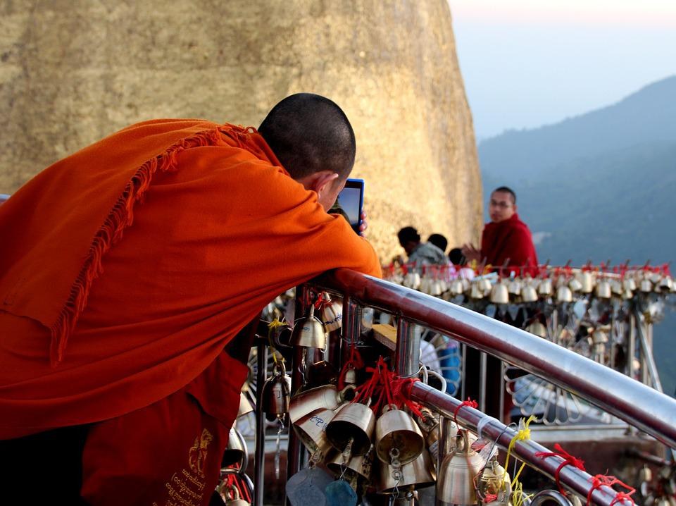 Mobile, Monks, Technology, Religion, Mobility