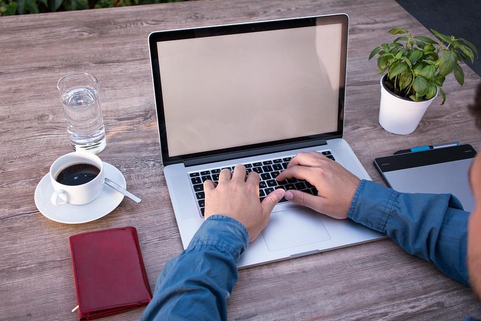 Home Office, Mockup, Laptop, Macbook, Computer