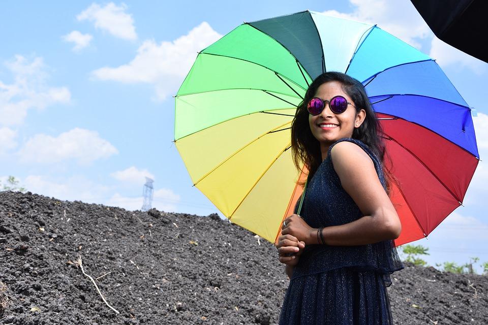 Modal, Blue, Umbrella, Beach, Vacation, Resort, Water