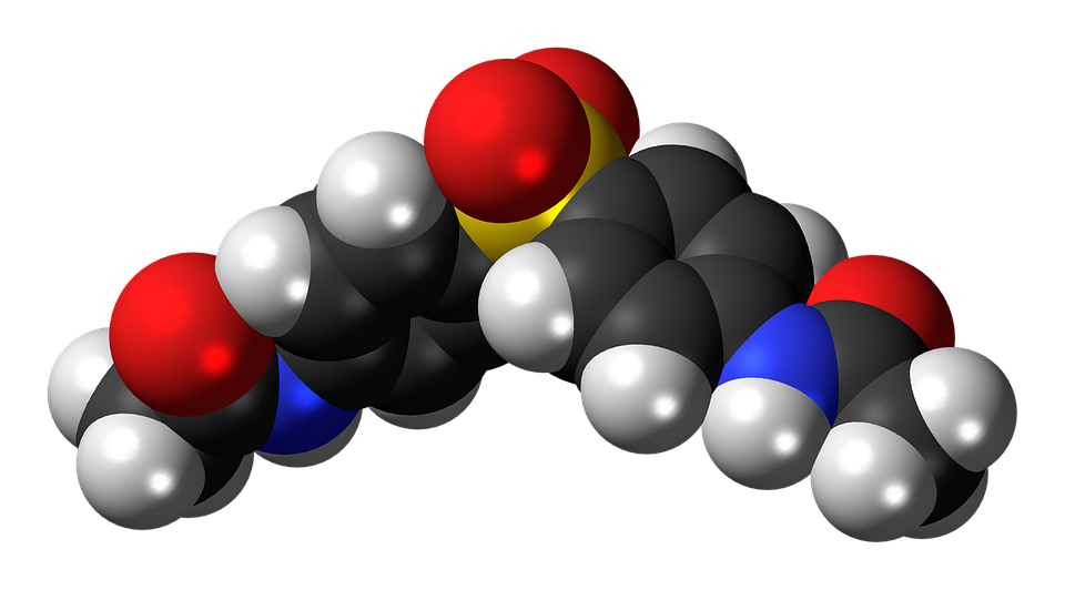 Acedapsone, Antimicrobial, Molecule, Structure, Model