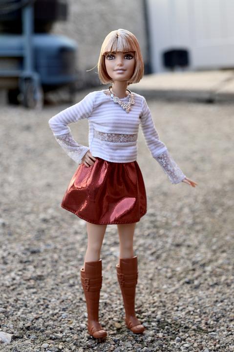 Barbie, Doll, Mini Skirt, Boots, Model, Posing