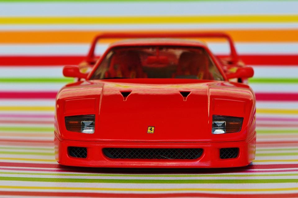 Free Photo Model Car Racing Car Sports Car Ferrari Front View Max
