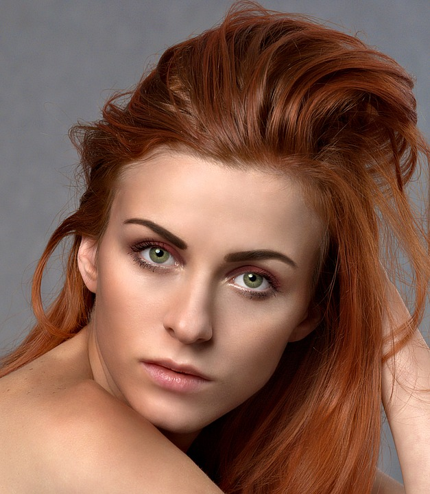 Beautiful, Woman, Portrait, Model, Makeup, Caucasian