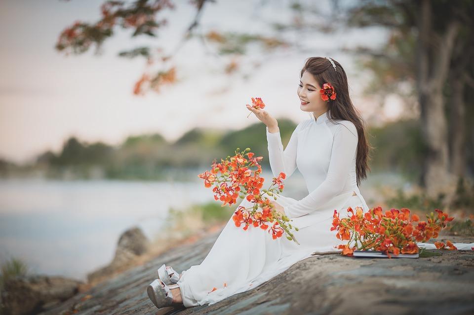 Ao Dai, Asian, Model, Asian Woman, Young Woman, Female