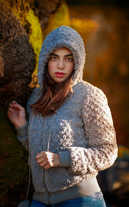 Portrait, Forest, Model, Womat