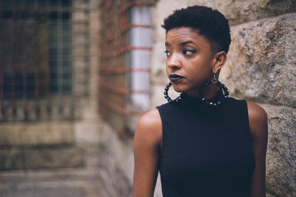 Girl, Black, Afroamerican, Model, Beautiful, Earrings