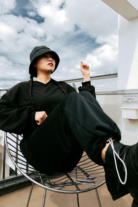 Woman, Portrait, Fashion, Model, Pose, Girl, Black