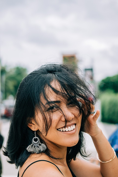 Girl, Smile, Woman, Portrait, Person, Model, Happiness
