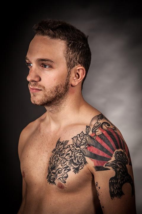 Man, Model, Tattoo, Body, Art, Skin, Male Body