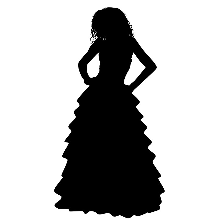 Woman, Dress, Silhouette, Model, Curly