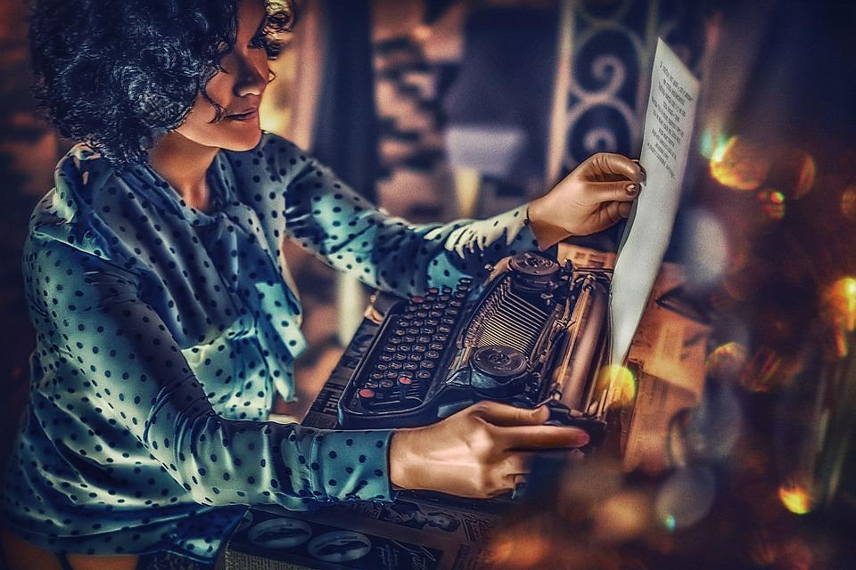 love letter letter typewriter girl model stockings