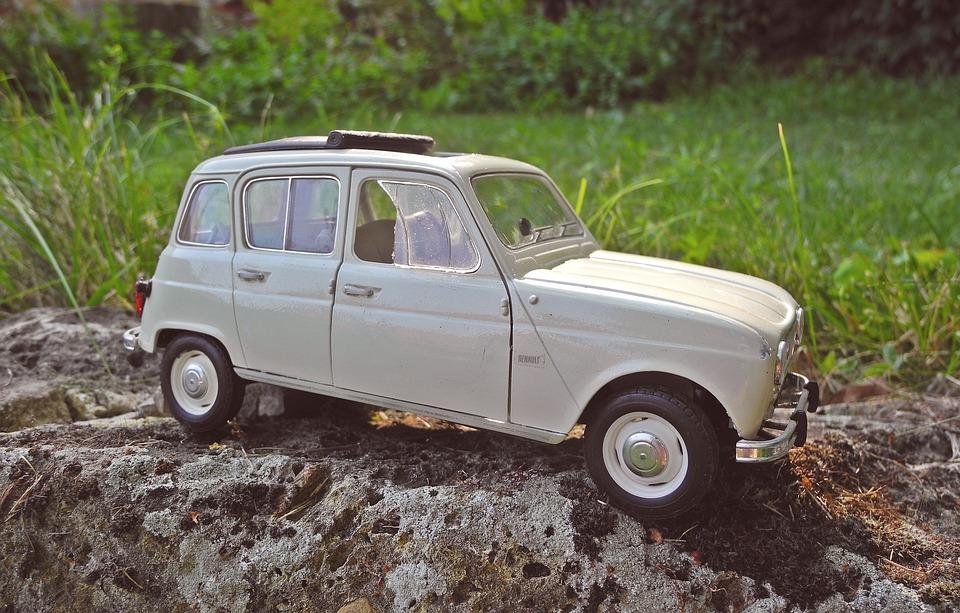 Renault, R4, Model, Miniature, Vehicle, Car, Retro
