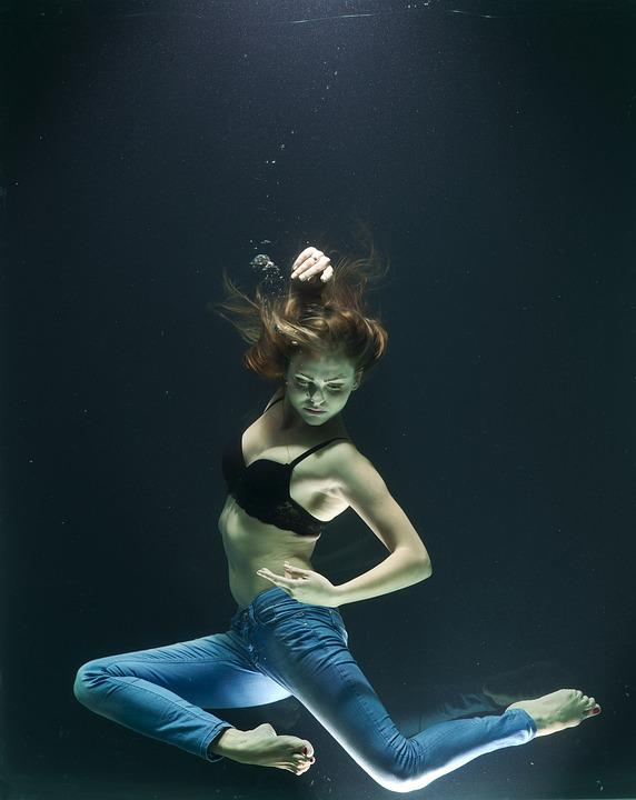 Water, Drowning, Fashion, Model, Woman, Girl, Dream