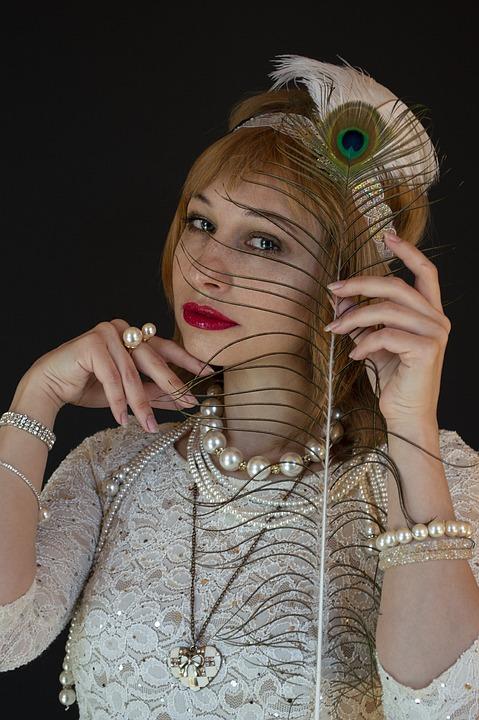 Woman, Model, 20s, Dress, Pen, 20th, Fashion, Portrait