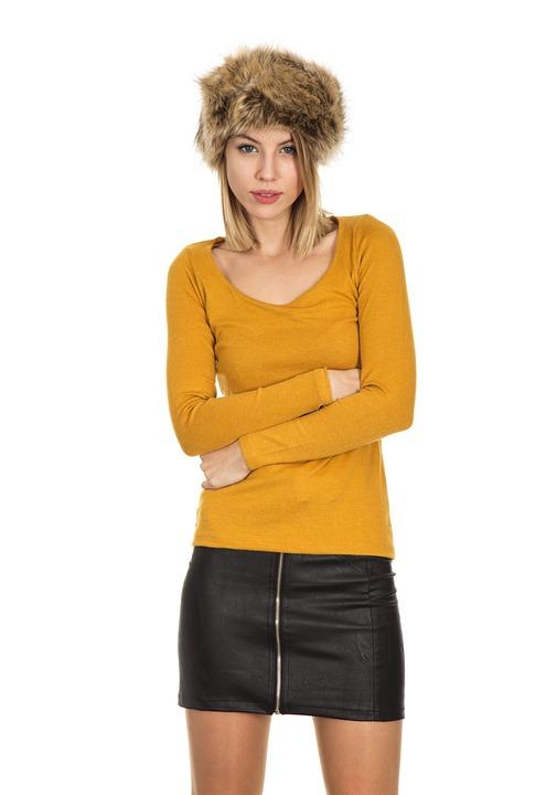 Model, Women's, Beautiful, Yellow, Kazakh, Young Girl