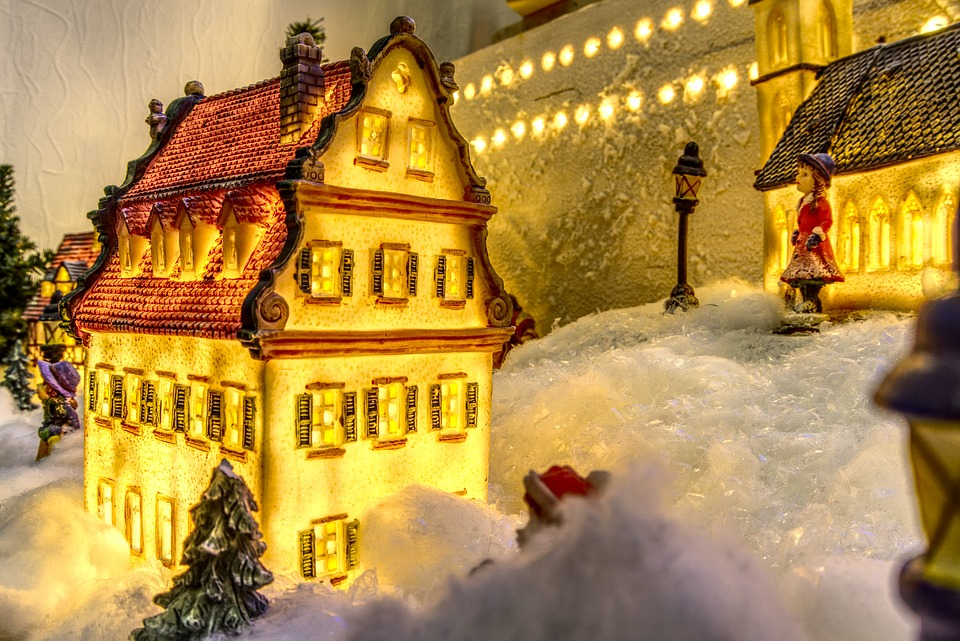 Christmas, Model, Modelling, Christmas Village, Snow