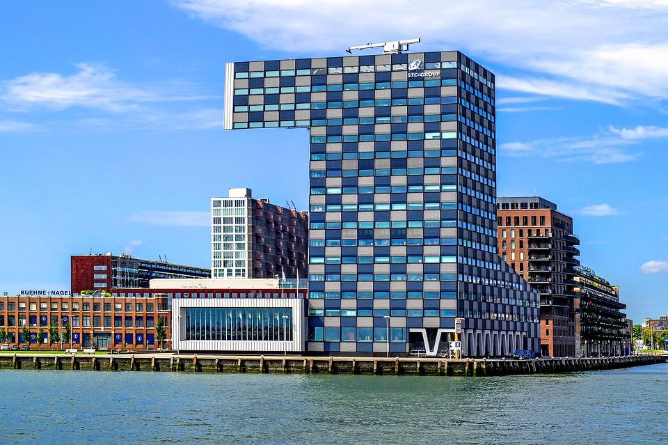Building, Modern, Architecture, Construction, Harbour