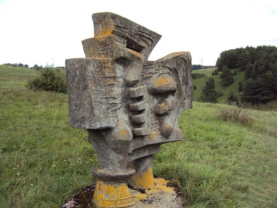 Modern Art, Warrior, Stone, Art, Sculpture
