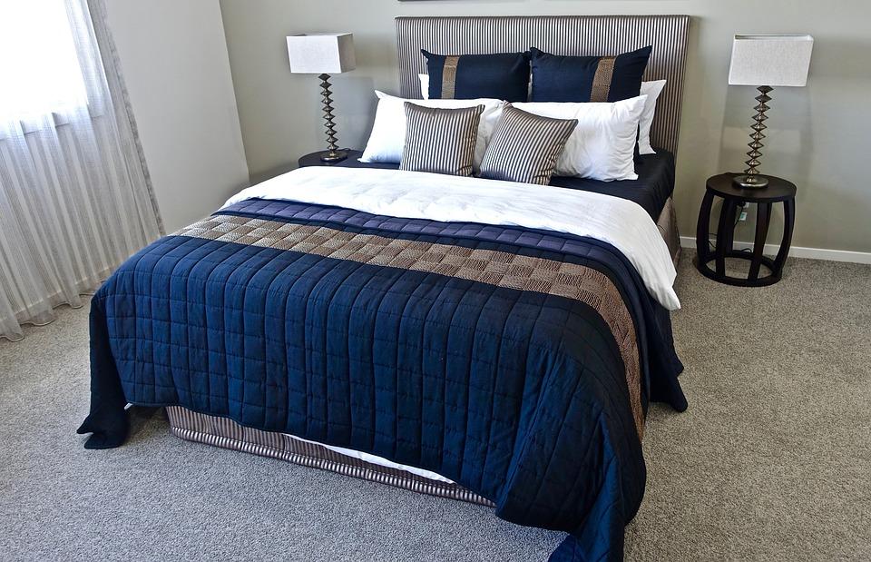 bedroom pillows. Bed  Bedroom Pillows Design Modern Comfort Free photo Max Pixel