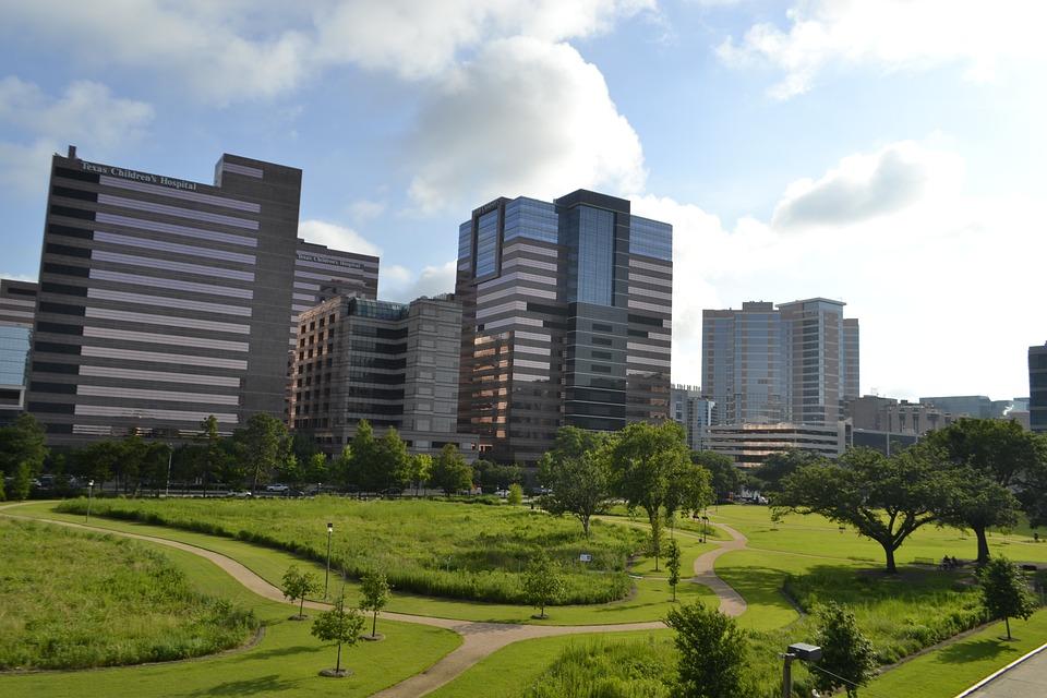 Houston, City, Skyline, Texas, Downtown, Modern
