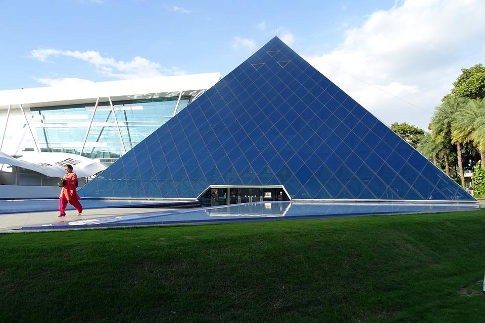 Building, Architecture, Pyramid, Modern, Corporate