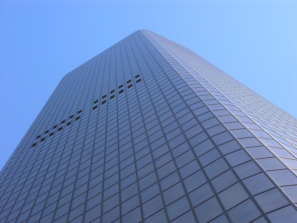 Building, Blue Sky, Modern, High Rise, Sky Scraper