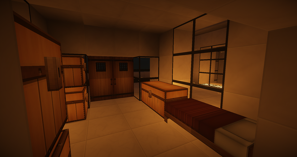 Minecraft, Bedroom, Modern Architecture, Modern House