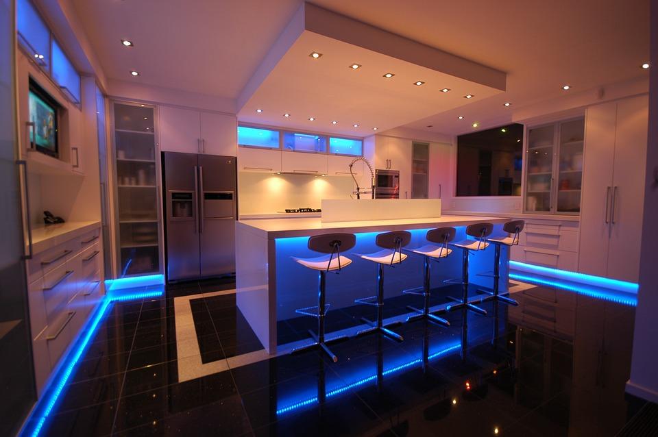 Kitchen, Lighting, Modern, Interior Design