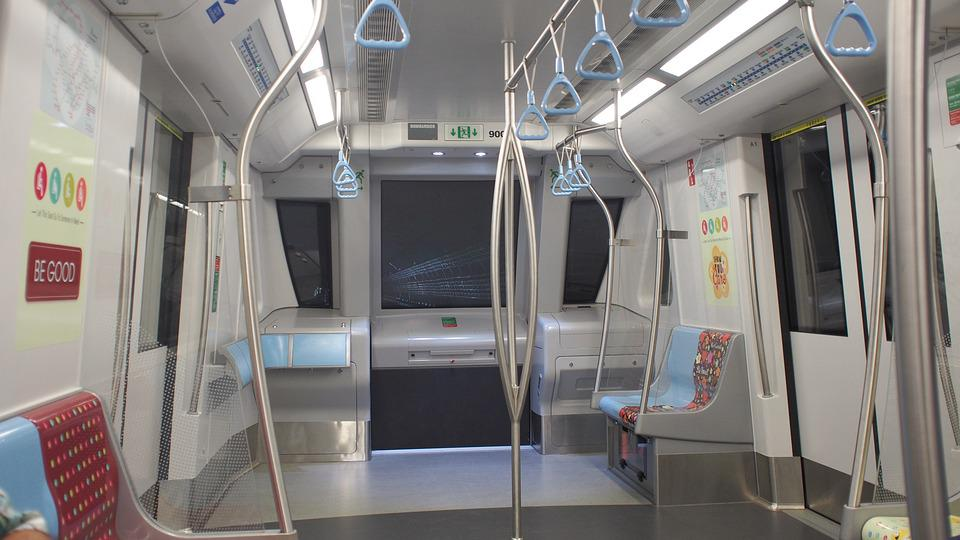 Indoors, Modern, Inside, Metro Train, Interior, Tunnel