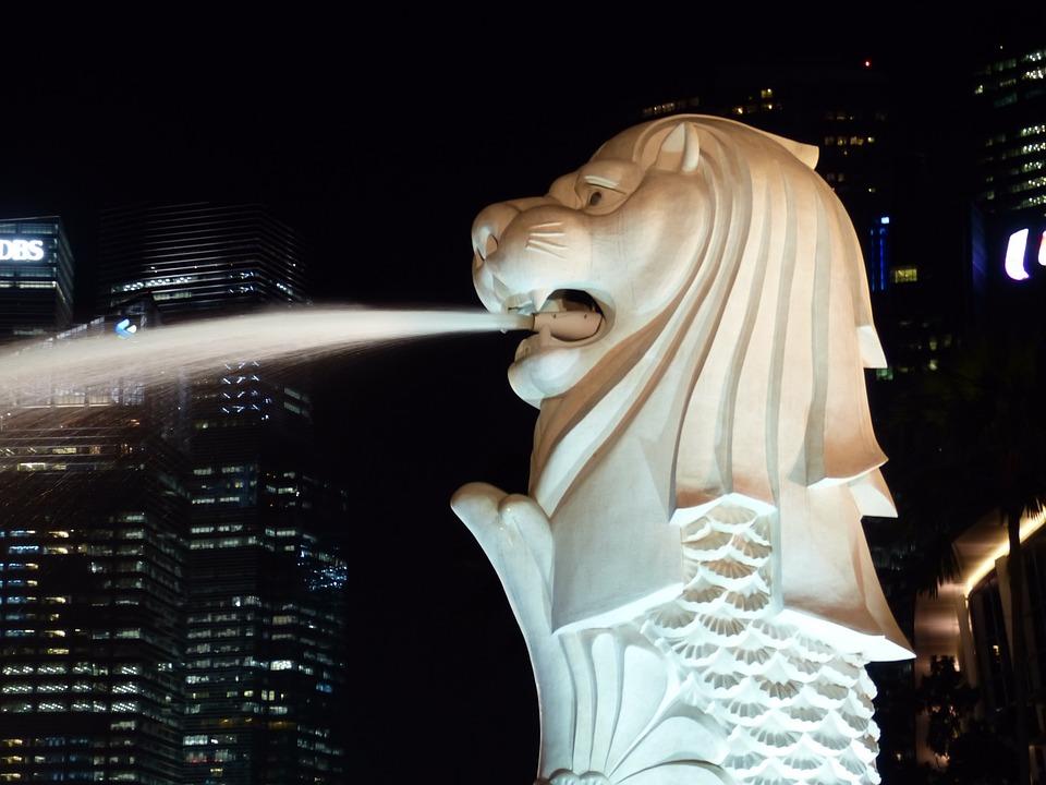 Singapore, Port, Sea, View, Architecture, Modern, Asia