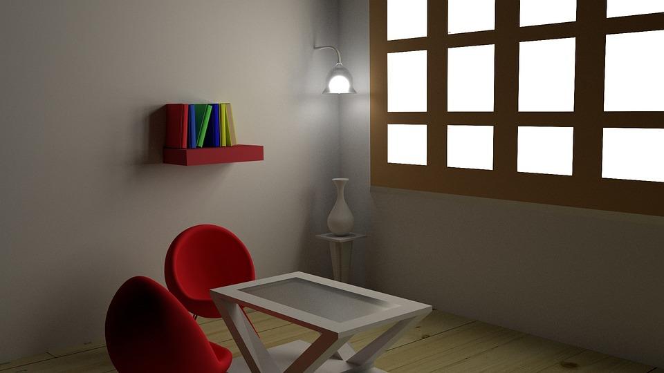 Room, Virtual Room, Modern Room Layout, 3d, Indoors