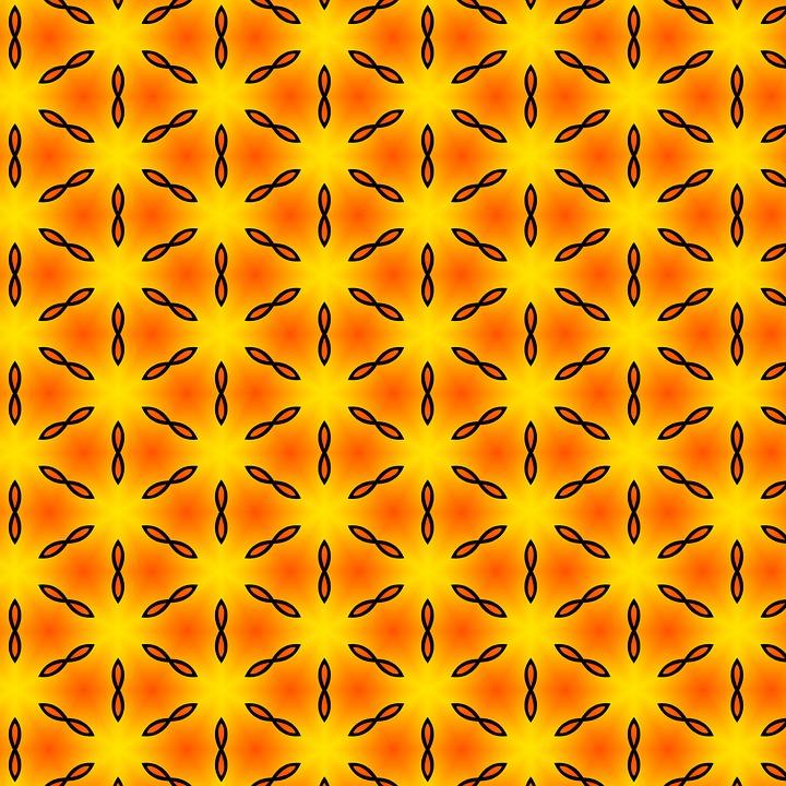 Pattern, Modern, Orange, Yellow, Seamless, Texture