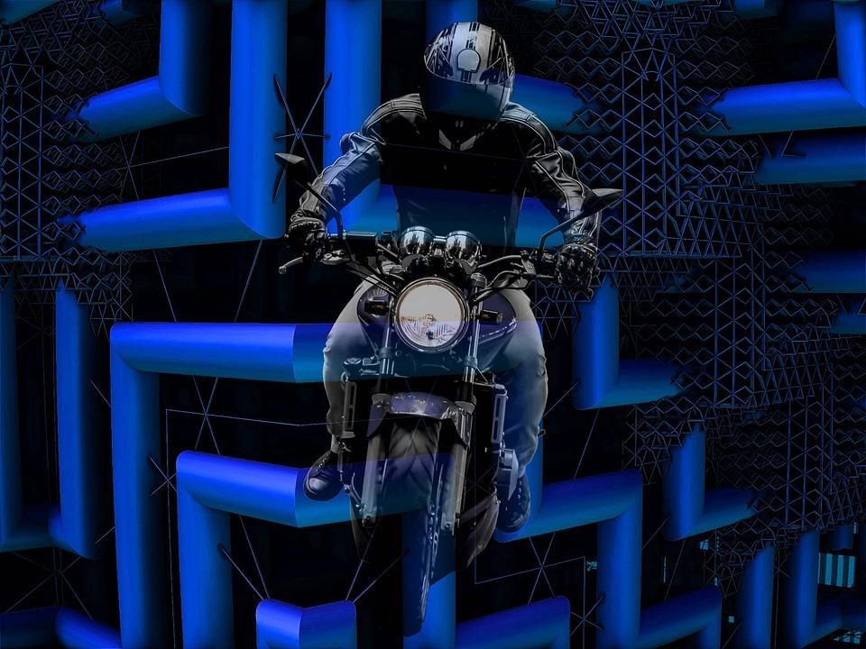 Moto, Futuristic, Blue, Modern, Architecture, Structure