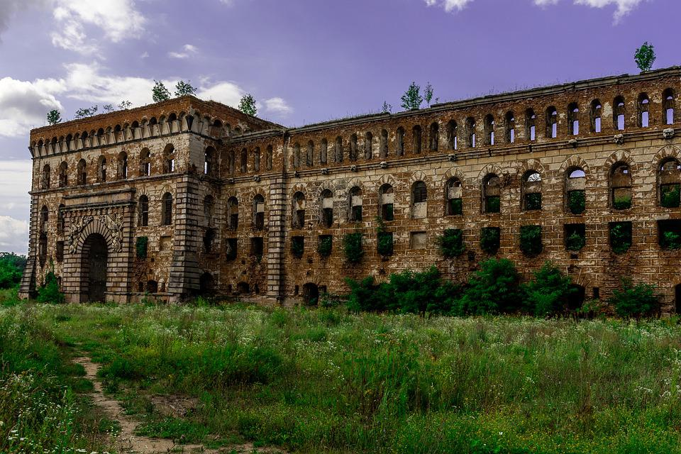 Modlin Fortress, Fortress, Ruins, Granary, Monument