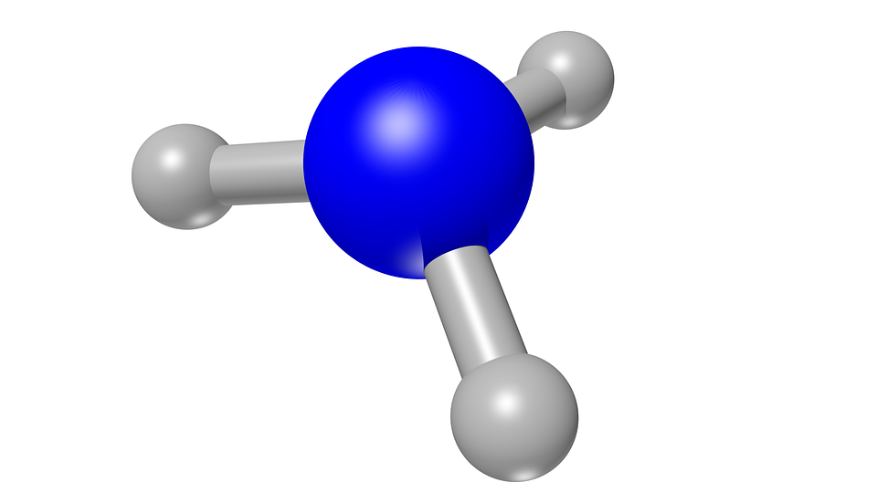 Ammonia, Nh3, Chemistry, 3d, Atoms, Molecule, Structure