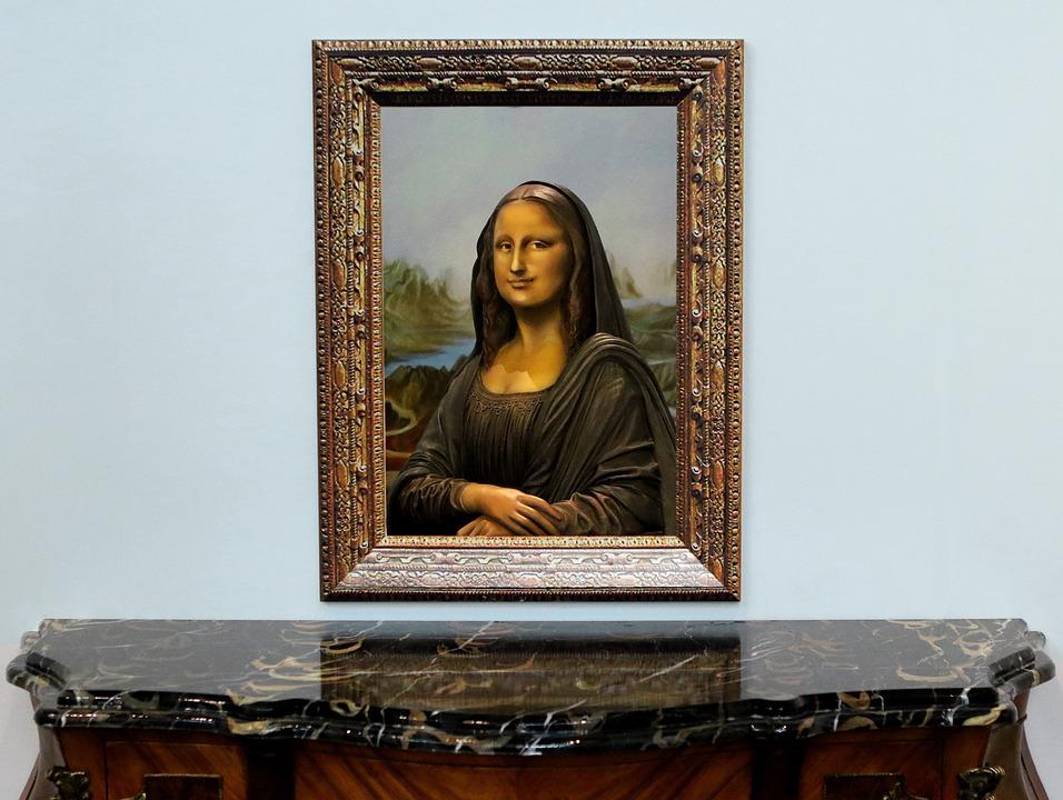 Sculpture, Faux, Statue, Painting, Mona Lisa, Frame