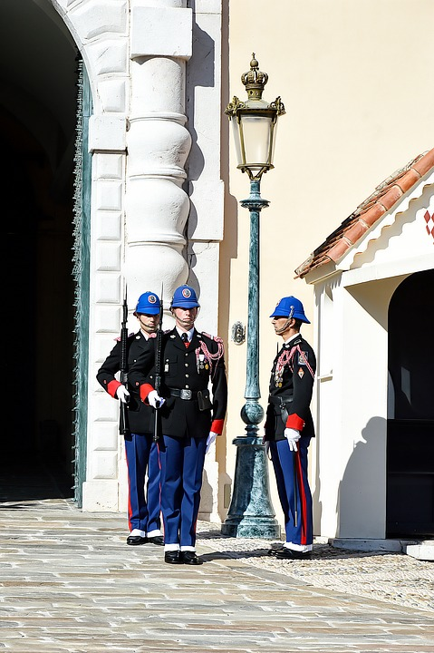 Guard, Changing Of The Guard, Monaco, Palace Of Monaco