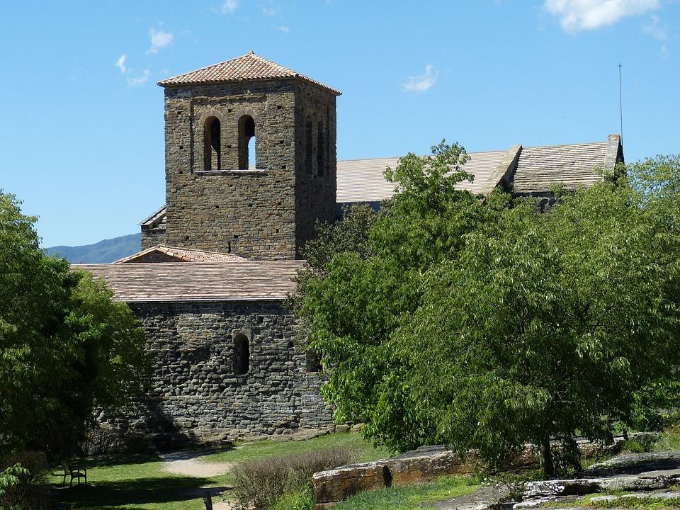 Spain, Catalonia, Monastery, Abbey, Architecture