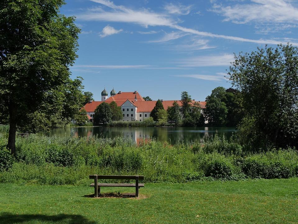Monastery, Seeon, Chiemgau, Bavaria, Holiday, Hiking