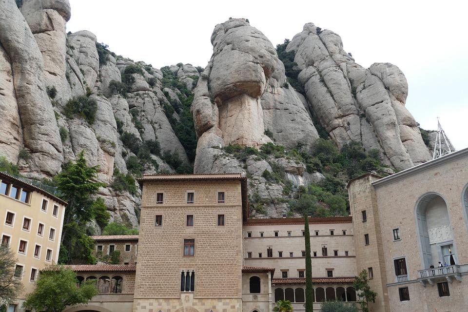 Spain, Montserrat, Church, Catalonia, Monastery